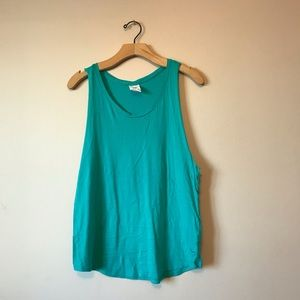 Victoria Secret Pink teal cropped Top sleeveless